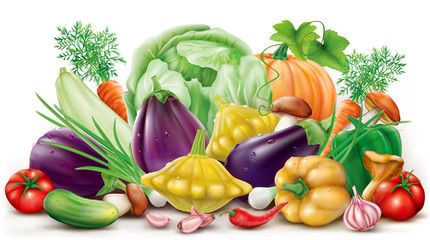 Collection different vegetables