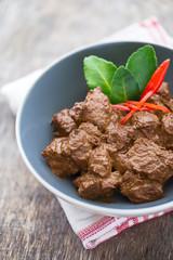 boeuf rendang, plat indonésien