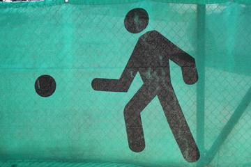 Strichmännen symbolisiert Figur eines Fußballspielers