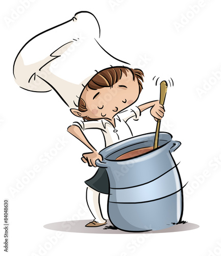 Niño Cocinando Con Olla Stock Photo And Royalty Free Images On