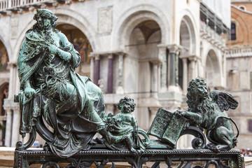 VENICE. St. Mark's Basilica. Architectural details