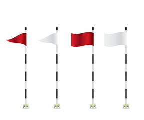 Golf flag illustration