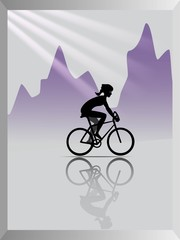Abstract background. Cycling.
