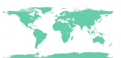 Weltkarte Farbe jadeite