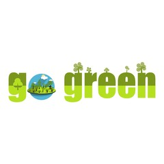 Go green campaign poster set