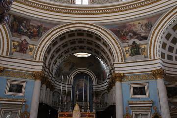 intérieur du Sanctuaire Sainte-Marie-de-l'Assomption de Mosta