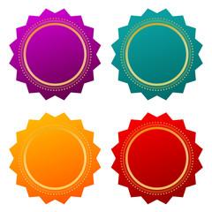 Blank seal certificate stars