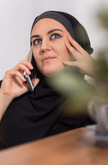 Woman being on the phone