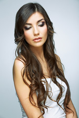 Hair style young woman portrait.Female model