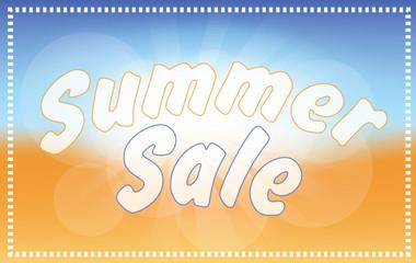 Summer sale - beach background -sun, sky, sand