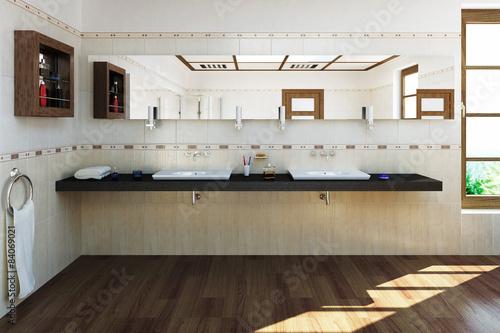 3d badezimmer stockfotos und lizenzfreie bilder auf bild 84069021. Black Bedroom Furniture Sets. Home Design Ideas