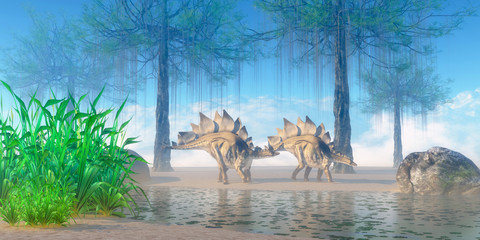 Stegosaurus Morning