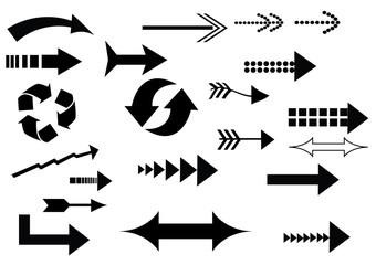 a set of arrow icons