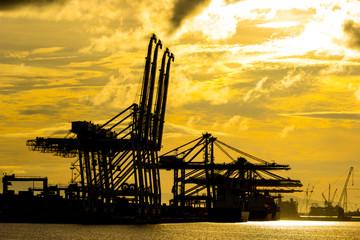 Port container terminal for transporatation