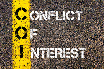 Business Acronym COI as CONFLICT OF INTEREST