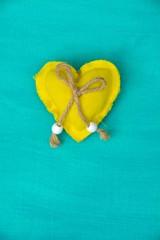 Glückwunschkarte - gelbes Herz