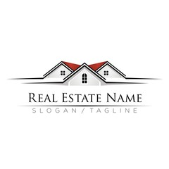 Property Real Estate logo icon vector