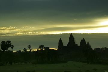 A mysterious. sunrise at Angkor Wat