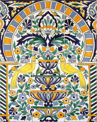Ceramic tiles with ornamental pattern