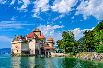 Chillon Castle, Geneve Lake, Switzerland Wall mural