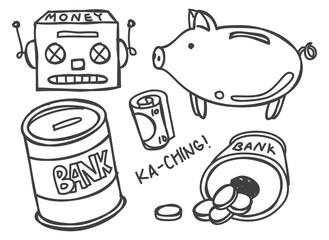 piggy bank doodle