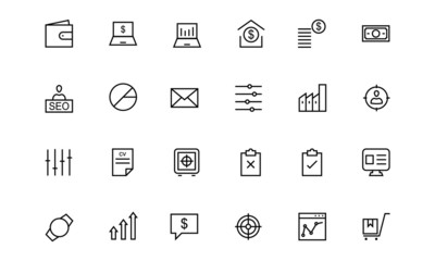Business and Finance Line Icons 3