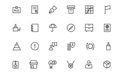 Business and Finance Line Icons 4