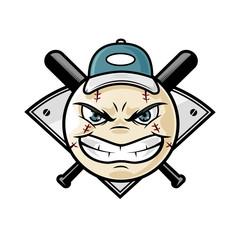 Baseball mascot emblem vector illustration cartoon