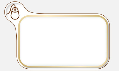Golden frame for your text and mouse