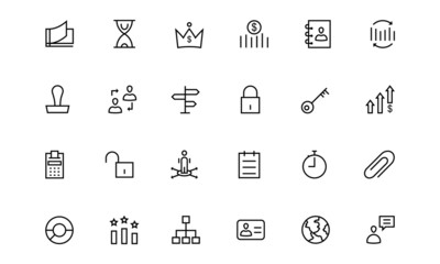 Business and Finance Line Icons 5