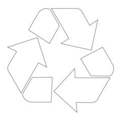 Recycling Symbol white