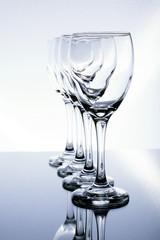 Wine Glasses Upright Angled Column
