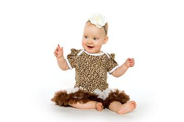 Cute 1-year-old baby girl