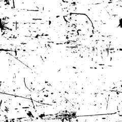 Abstract vector grunge seamless texture. Black and white dirty b