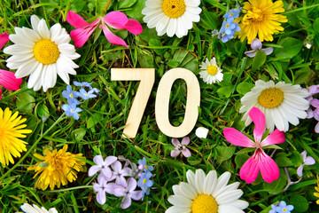70 Geburtstag Zahlen