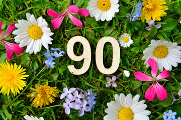 90 Geburtstag Zahlen