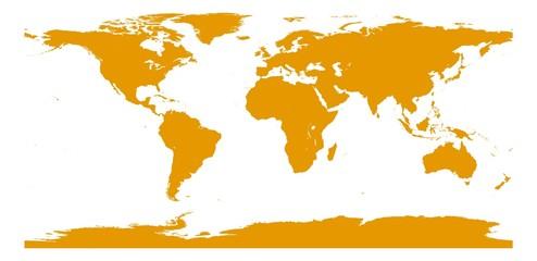 Foto auf Leinwand Weltkarte Weltkarte Farbe seville orange