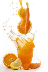 succo di arancia carota,limone splash