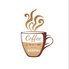coffe cup with type design