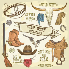 Wild West collection of icons