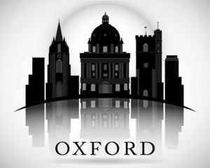 Modern Oxford City Skyline Design. England