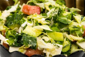 Close up Greek salad