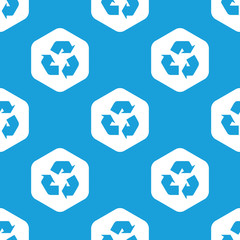 Recycle sign hexagon pattern