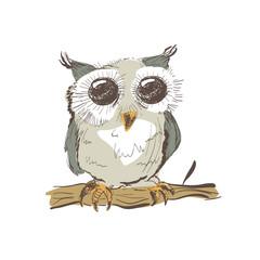 Illustration of doodle owl