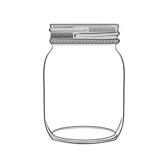 Illustration of hand drawn jar