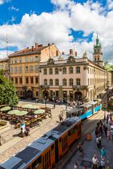 Printed roller blinds Nice Lviv historic center of Ukraine
