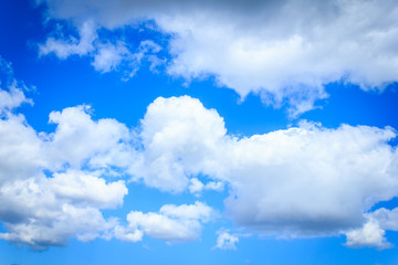 Blue sky clouds, natural background.