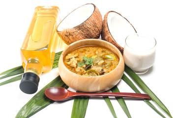 Green pork Curry and Coconut, Thai cuisine