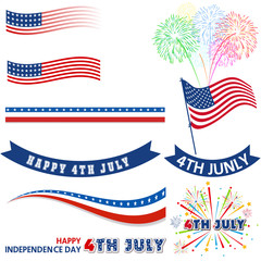 4th of July Design Elements