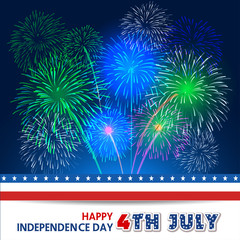 Fourth of July with firework Background